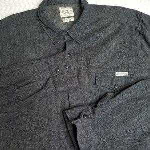 Lucky Brand Shirt Pearl Snap Western Cotton XXL